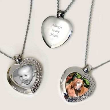 Permanent Image Heart Necklace | Someone Remembered